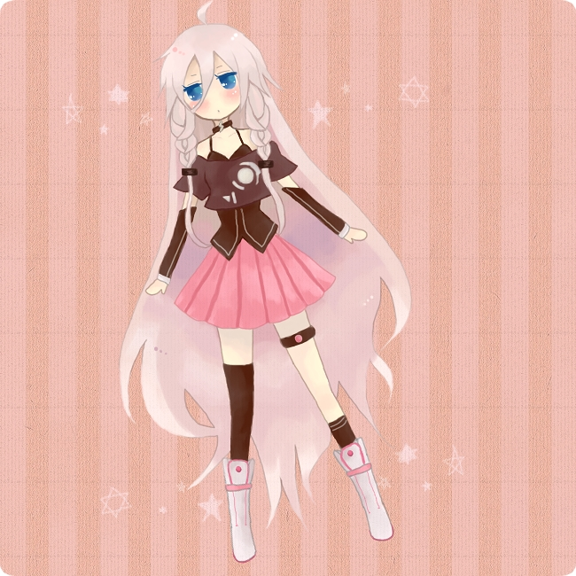Tags: Anime, Pixiv Id 1651992, VOCALOID, IA, Pink Skirt, Legband