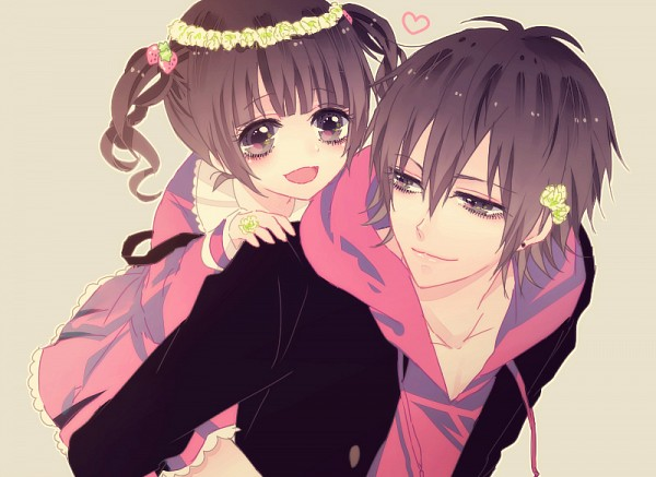Tags: Anime, IBUKI (Carol), Piggyback, Carry, Brother And Sister, Flower Crown