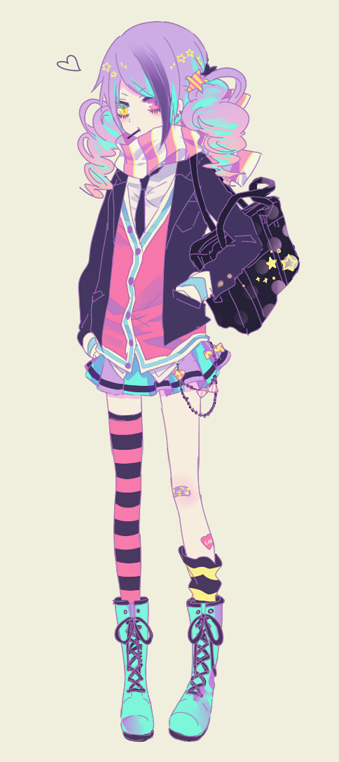 Tags: Anime, IBUKI (Carol), Beige Background, PNG Conversion, Pixiv, Original