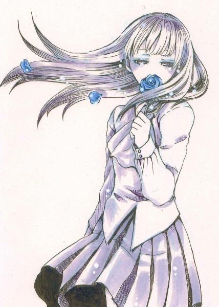 Tags: Anime, Pixiv Id 651987, Ib, Ib (Character), Straight Hair, Sad, Spot Color