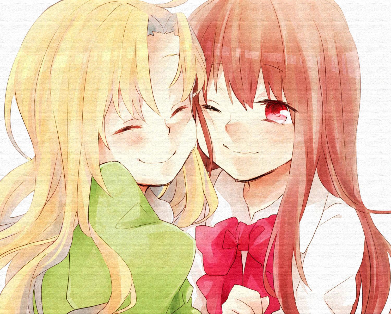 Фото аниме подруги обнимаются