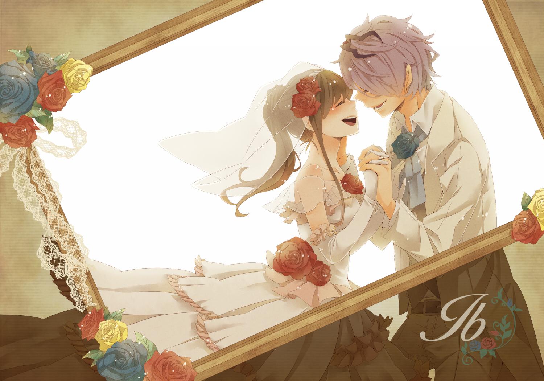 Открытка свадебная аниме