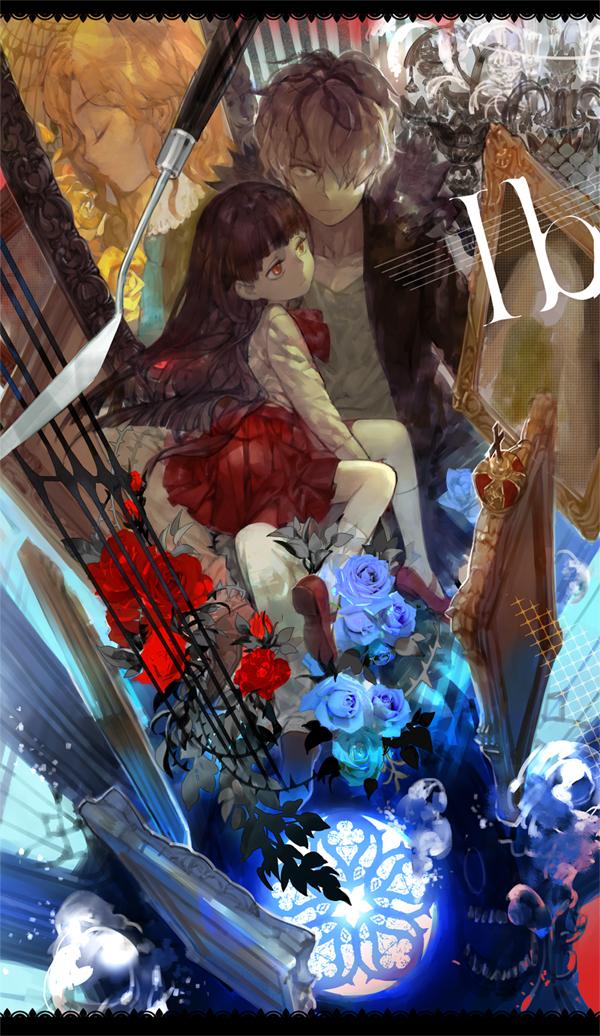 Tags: Anime, shishio*, Ib, Garry, Mary (Ib), Ib (Character), Palette Knife, Fanart, Mobile Wallpaper, Fanart From Pixiv, Pixiv
