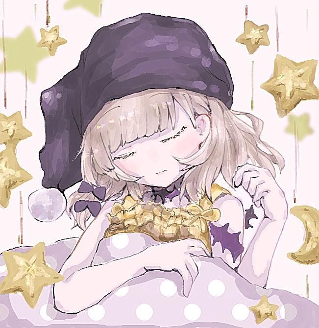 Tags: Anime, Pixiv Id 30012277, SINoALICE, Ibarahime (SINoALICE), Sleeping Hat, Fanart From Pixiv, Pixiv, Fanart, Sleeping Beauty (sinoalice)