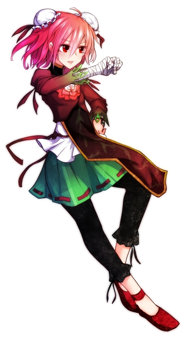 Tags: Anime, Miranko, Touhou, Ibaraki Kasen, Leggings, Bandaged Fingers, Pixiv, Fanart, Kasen Ibaraki