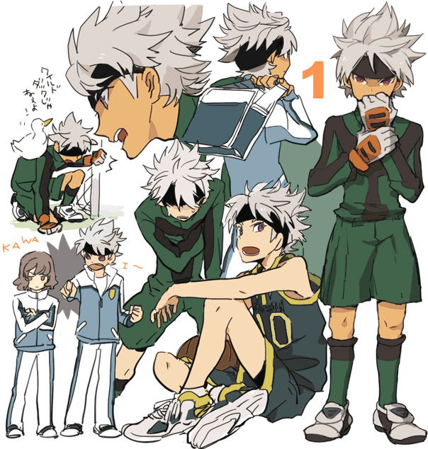 Tags: Anime, Pixiv Id 424248, Inazuma Eleven GO, Inazuma Eleven GO Galaxy, Shindou Takuto, Ibuki Munemasa, Track Pants, Pixiv, Fanart, Fanart From Pixiv