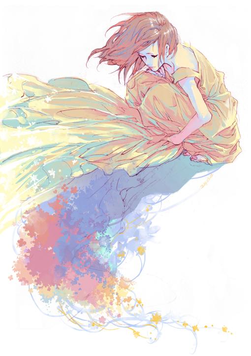 Tags: Anime, Ibuki Satsuki, Swirls, Gown, Original, Mobile Wallpaper