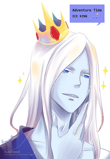 Tags: Anime, Elims smilE, Adventure Time, Ice King, Mobile Wallpaper, Fanart, Pixiv