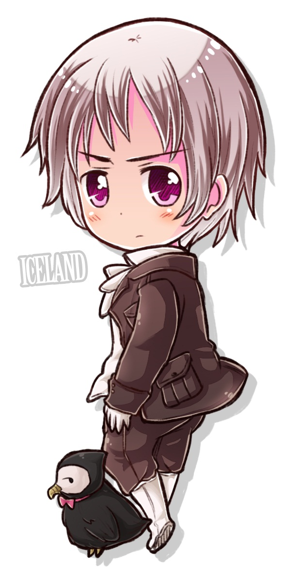 Tags: Anime, Axis Powers: Hetalia, Iceland, Mr. Puffin, Text: Country Name, Puffin, Nordic Countries