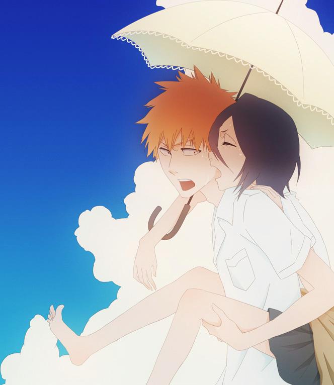 Tags: Anime, Pixiv Id 7949421, BLEACH, Kuchiki Rukia, Kurosaki Ichigo, Fanart From Pixiv, Fanart, Pixiv, IchiRuki