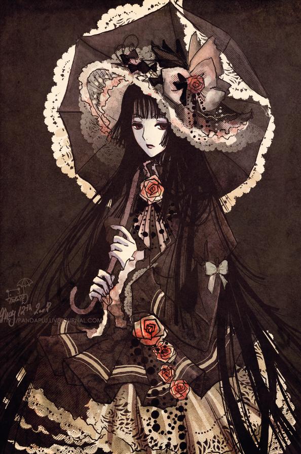 Tags: Anime, xxxHOLiC, Ichihara Yuuko, Brown, Fanart, Mobile Wallpaper