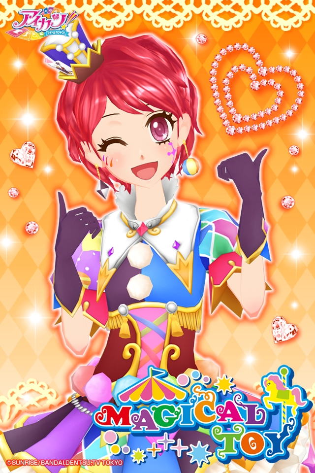Tags: Anime, Aikatsu!, Data Cardass Aikatsu!, Ichinose Kaede, Purple Handwear, Purple Gloves, Official Art, Official Wallpaper