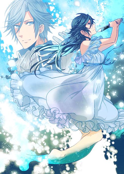Tags: Anime, Roa Huduki, Little Mermaid, Uta no☆prince-sama♪, Ichinose Tokiya, Little Mermaid (Parody), Pixiv, Fanart, Mobile Wallpaper