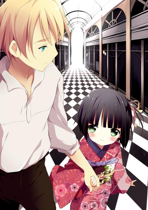 Tags: Anime, Shiratama Dango, Ikoku Meiro no Croisée, Yune (Ikoku Meiro no Croisee), Claude Claudel, Mobile Wallpaper