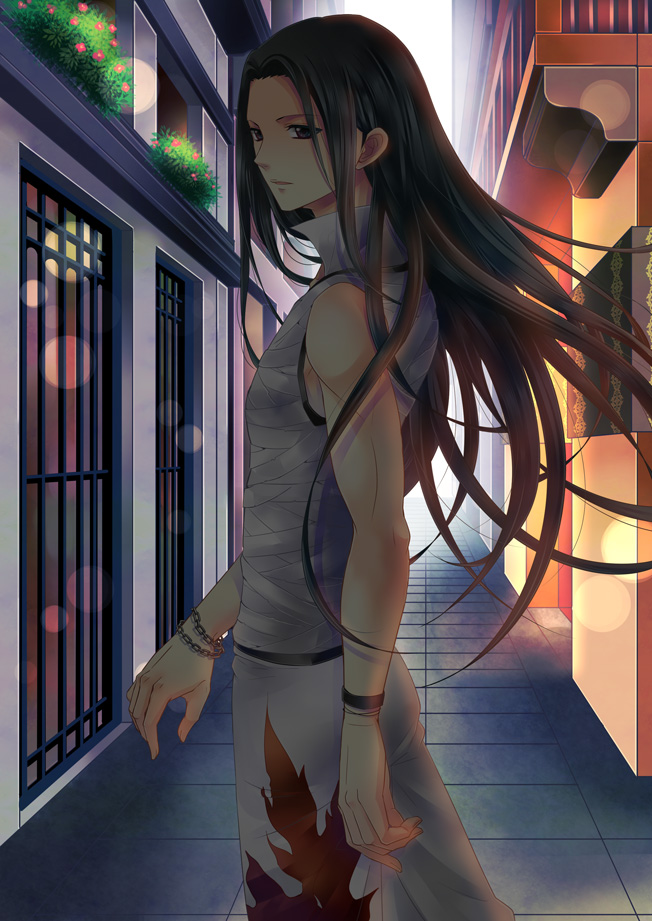 Tags: Anime, Pixiv Id 5076938, Hunter x Hunter, Illumi Zoldyk, Alley, Fanart From Pixiv, Fanart, Mobile Wallpaper, Pixiv