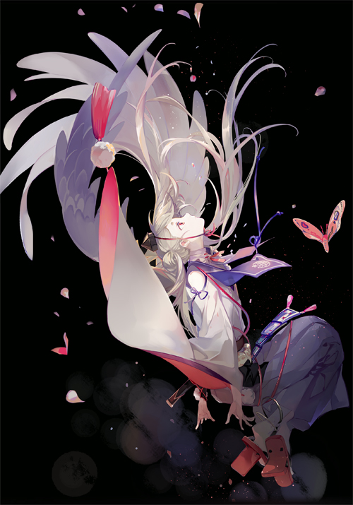 Tags: Anime, Nineo, Touken Ranbu, Imanotsurugi, Wooden Sandals, Head Up, Side Bun, Pixiv, Fanart, Mobile Wallpaper, Fanart From Pixiv