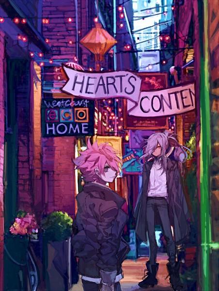 Tags: Anime, Pixiv Id 18478411, Inazuma Eleven: Ares no Tenbin, Nosaka Yuuma, Haizaki Ryouhei, Long Coat, Open Coat