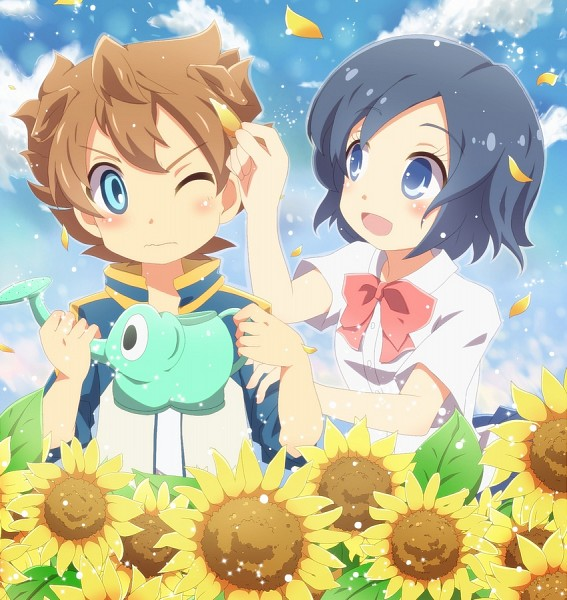 Tags: Anime, Tea, Sunflower, Cup, Yellow Flower, Level-5, Teacup