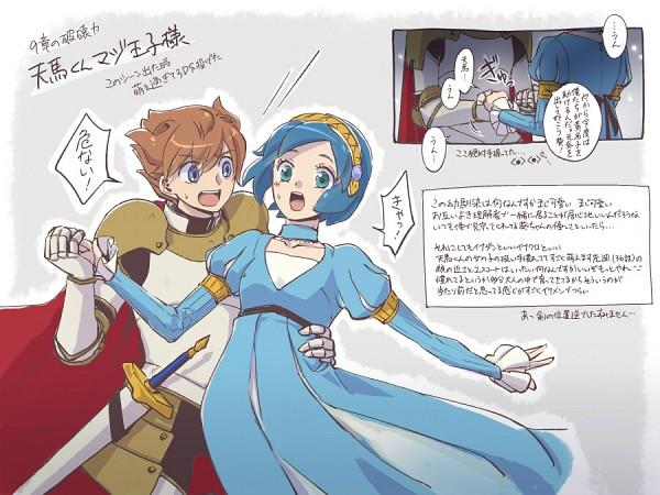 Tags: Anime, Level-5, Matsukaze Tenma, Inazuma Eleven GO, Sorano Aoi, Pixiv Id 94878, Inazuma Eleven Go: Chrono Stone