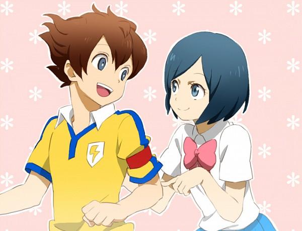 Tags: Anime, Captain, Matsukaze Tenma, Inazuma Eleven GO, Sorano Aoi, Pixiv Id 3986366, Raimon GO Uniform