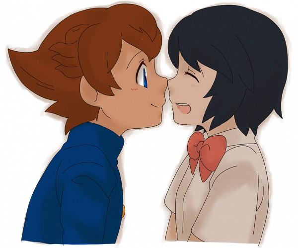 Tags: Anime, Gakuran, Matsukaze Tenma, Inazuma Eleven GO, Sorano Aoi, Bio-cat