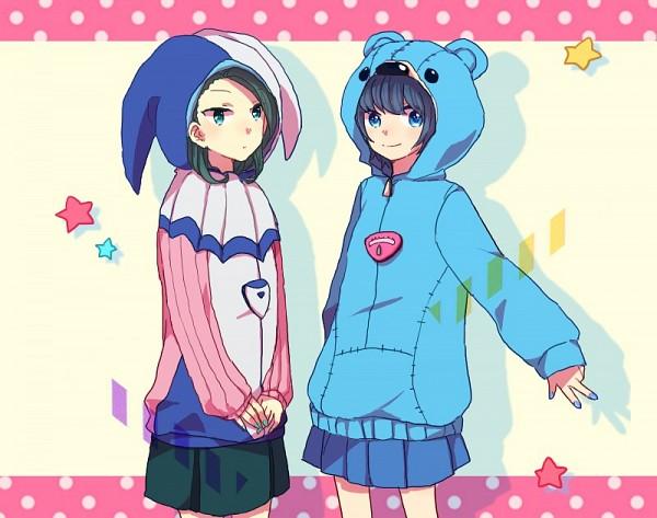 Tags: Anime, Blue Skirt, Inazuma Eleven GO, Sorano Aoi, Pixiv Id 2915351, Mizukawa Minori, Inazuma Eleven GO Galaxy