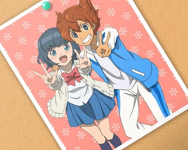 Tags: Anime, Sweater, V Gesture, Tracksuit, Open Jacket, Matsukaze Tenma, Inazuma Eleven GO