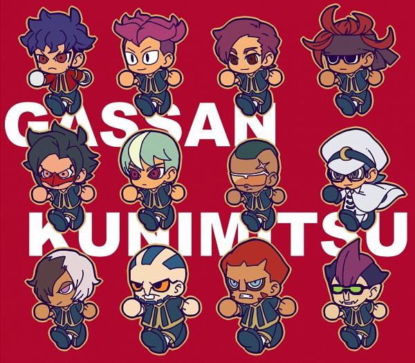 Tags: Anime, Pixiv Id 2071470, Inazuma Eleven GO, Kai Nobutake, Kobayakawa Soukichi, Minamisawa Atsushi, Hachisuka Tadatora