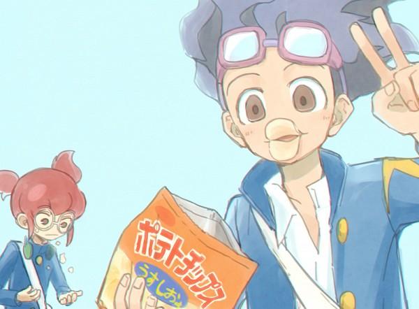 Tags: Anime, Pixiv Id 2071470, Inazuma Eleven GO, Hamano Kaiji, Hayami Tsurumasa, Open Coat, Goggles