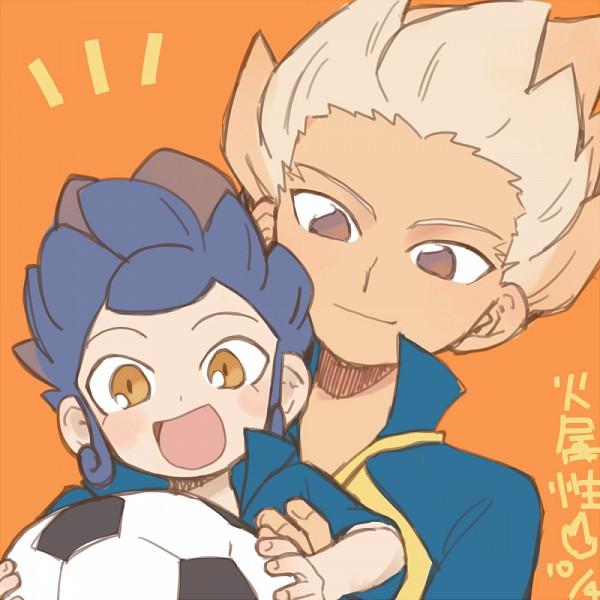 Tags: Anime, Pixiv Id 2071470, Inazuma Eleven GO, Inazuma Eleven, Tsurugi Kyousuke, Gouenji Shuuya, Soccer