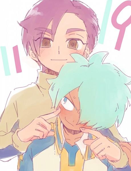 Tags: Anime, Pixiv Id 2071470, Inazuma Eleven GO, Kurama Norihito, Minamisawa Atsushi, Raimon GO Uniform, Track Jacket