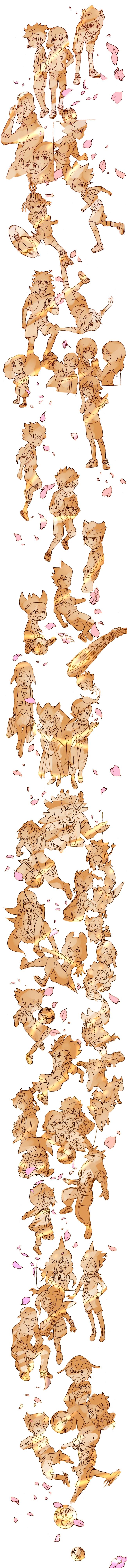 Tags: Anime, Pixiv Id 3852549, Inazuma Eleven GO Galaxy, Inazuma Eleven GO, Katra Paige, Minaho Kazuto, Ookami (Soul), Matatagi Yuuta, Acrous Obies, Hakuryuu (Inazuma Eleven), Hayabusa (Soul), Kuroiwa Ryuusei, Ratel