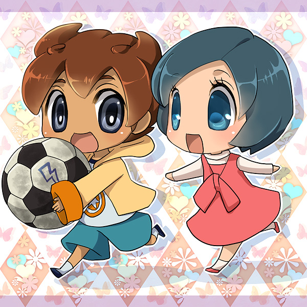 Tags: Anime, Soccer, Little Boy, Running, Little Girl, Inazuma Eleven, Level-5