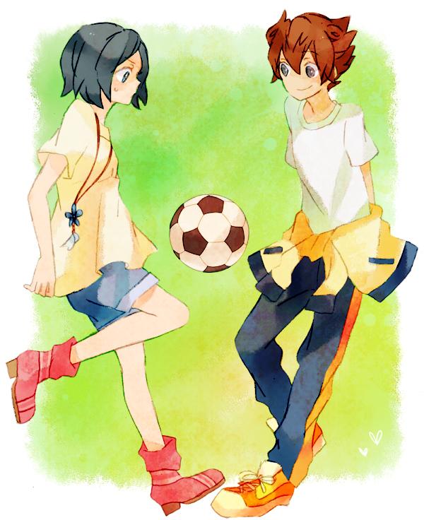 Tags: Anime, Soccer, T-shirt, Inazuma Eleven, Level-5, Soccer Ball, Matsukaze Tenma