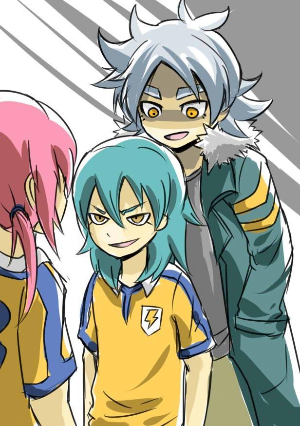 Tags: Anime, Level-5, Inazuma Eleven GO, Inazuma Eleven, Kariya Masaki, Kirino Ranmaru, Fubuki Atsuya, Fubuki Shirou, Mobile Wallpaper
