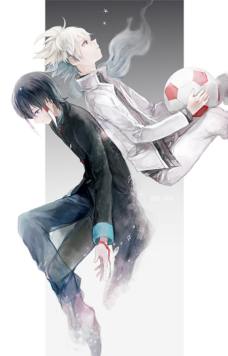 Tags: Anime, Akira Hou, Level-5, Inazuma Eleven, Inazuma Eleven GO, Hakuryuu (Inazuma Eleven), Shuu (Inazuma Eleven), Pixiv, Fanart, Mobile Wallpaper