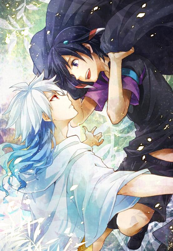 Tags: Anime, Sumeragi Sora, Inazuma Eleven GO, Shuu (Inazuma Eleven), Hakuryuu (Inazuma Eleven), Mobile Wallpaper, Pixiv, Fanart