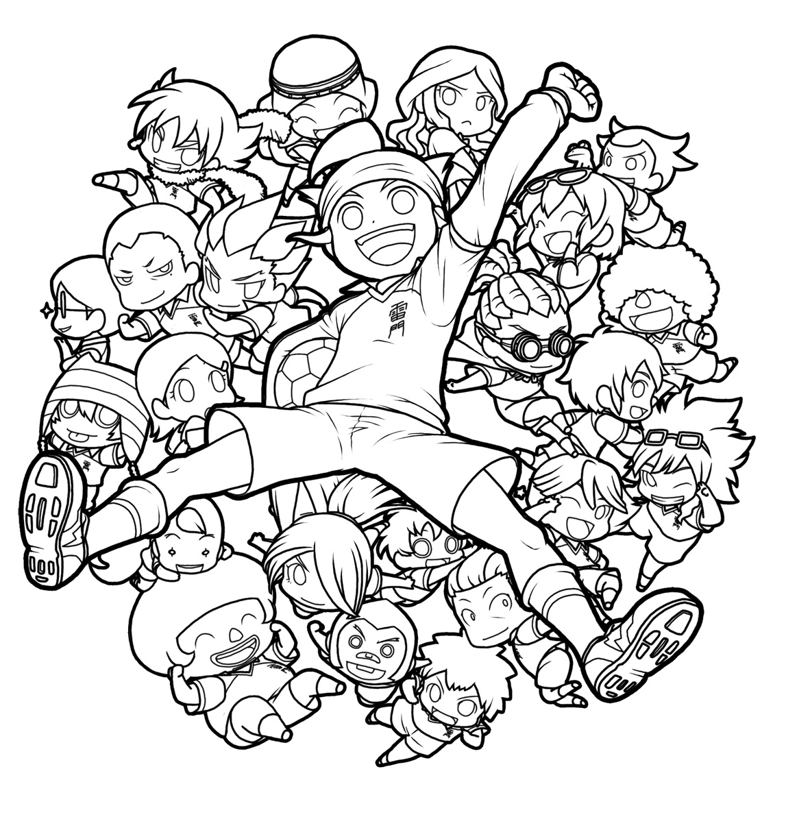 Inazuma eleven colouring pages page 2 -  Colouring Pages Page 3 Coloriage Coloriage Kazuya Page 2