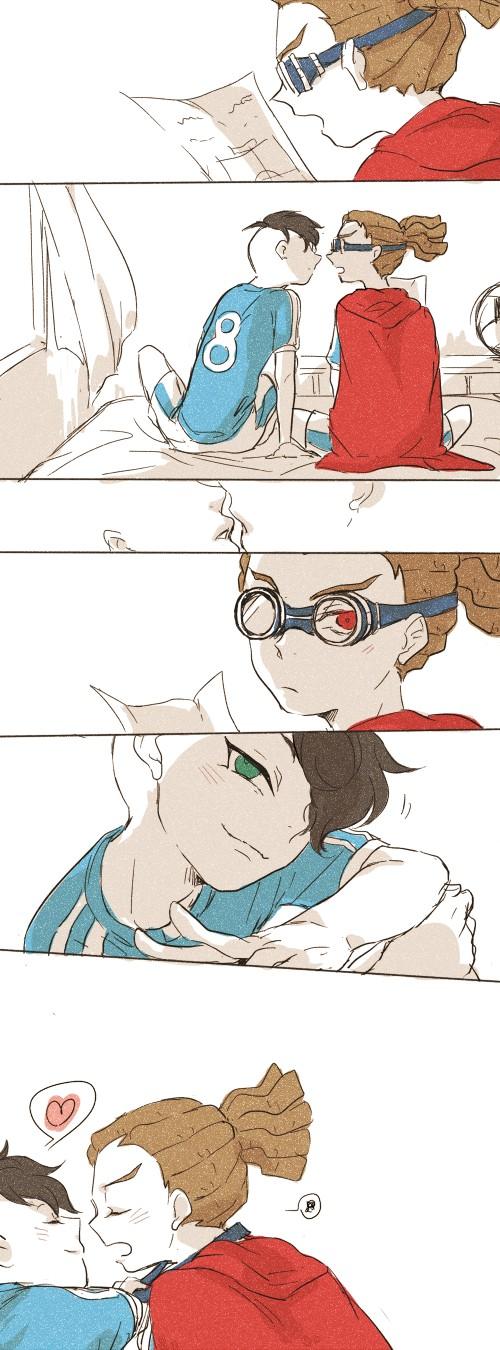 Tags: Anime, Pixiv Id 1284076, Inazuma Eleven, Fudou Akio, Kidou Yuuto