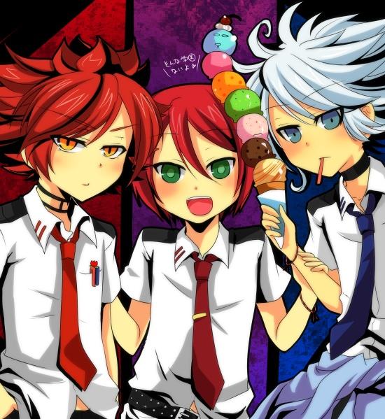 Tags: Anime, Pixiv Id 457137, Inazuma Eleven, Nagumo Haruya, Kiyama Hiroto, Suzuno Fuusuke, Pixiv, Fanart, 3top