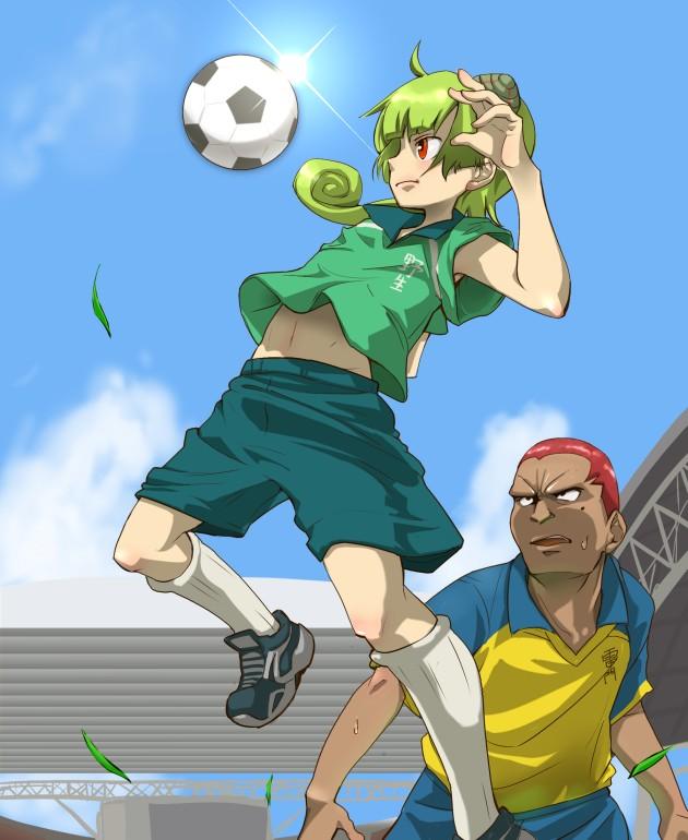 Tags: Anime, Pixiv Id 112450, Level-5, Inazuma Eleven, Someoka Ryuugo, Kame Reon, Stadium, Fanart From Pixiv, Fanart, Pixiv, Nose (Inazuma Eleven)