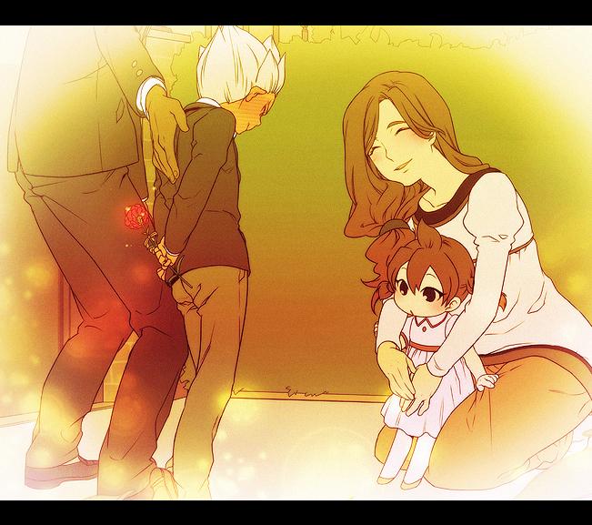 Tags: Anime, Himaki, Inazuma Eleven, Gouenji Yuuka, Gouenji Shuuya's Mother, Gouenji Shuuya, Gouenji Katsuya, Mother's Day, Fanart From Pixiv, Pixiv, Fanart