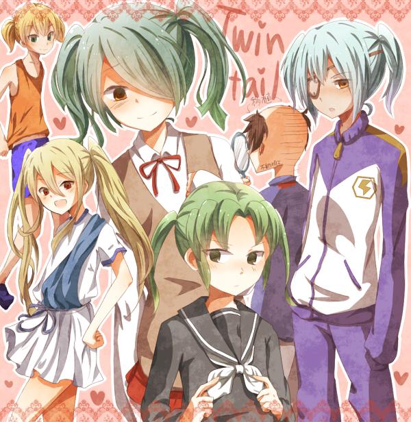 Tags: Anime, Level-5, Inazuma Eleven, Sakuma Jirou, Miyasaka Ryou, Afuro Terumi, Fudou Akio, Midorikawa Ryuuji, Kazemaru Ichirouta, Hand Mirror, Fanart