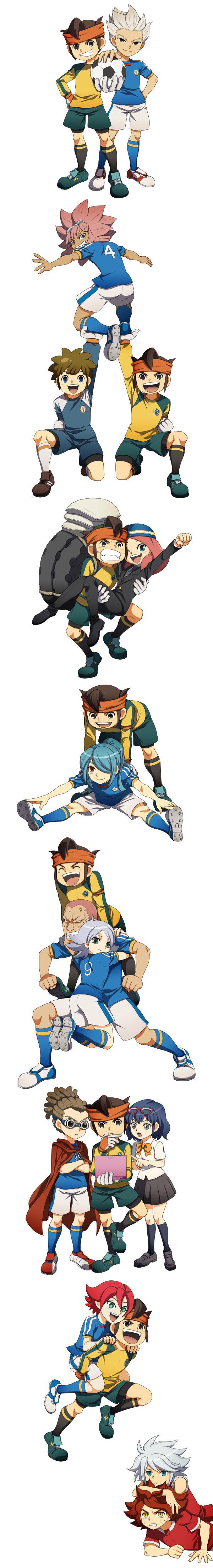 Tags: Anime, Hato Niku, Level-5, Inazuma Eleven, Tachimukai Yuuki, Suzuno Fuusuke, Kazemaru Ichirouta, Kidou Yuuto, Nagumo Haruya, Endou Mamoru, Gouenji Shuuya, Someoka Ryuugo, Zaizen Touko