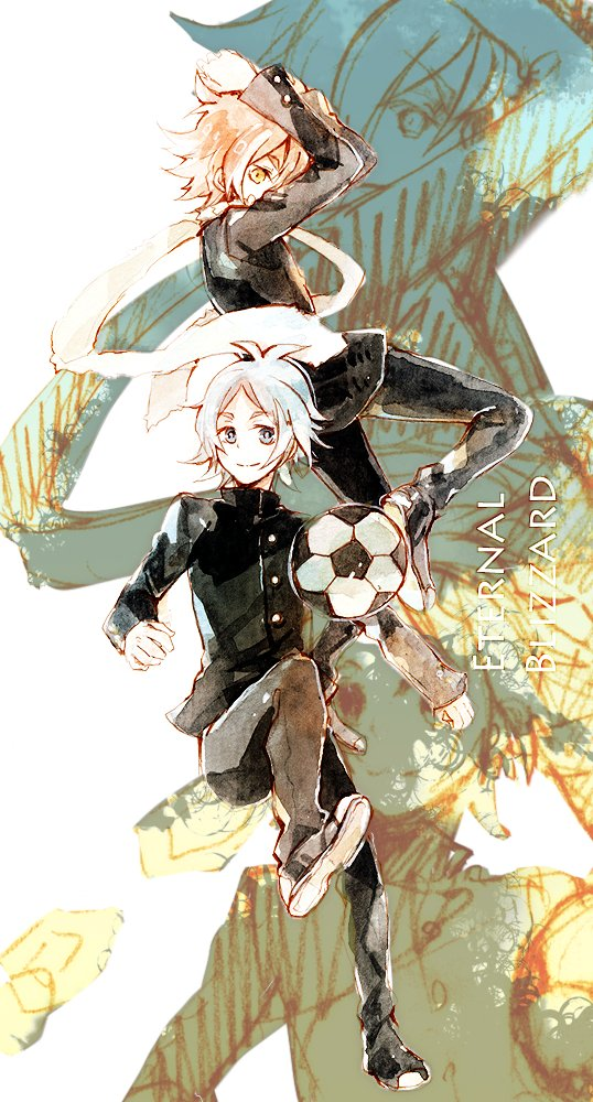Tags: Anime, Donguri-usagi, Level-5, Inazuma Eleven, Fubuki Atsuya, Fubuki Shirou, Mobile Wallpaper, deviantART, Fubuki Twins