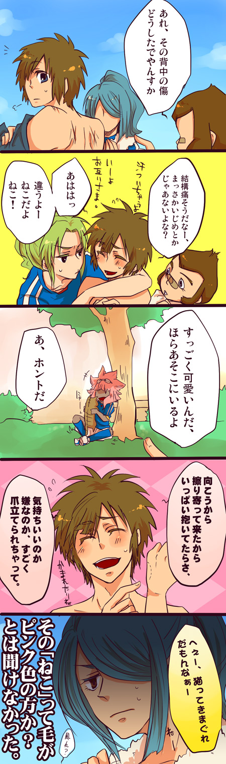 Tags: Anime, Level-5, Inazuma Eleven, Kurimatsu Teppei, Kazemaru Ichirouta, Tachimukai Yuuki, Tsunami Jousuke, Midorikawa Ryuuji, Comic