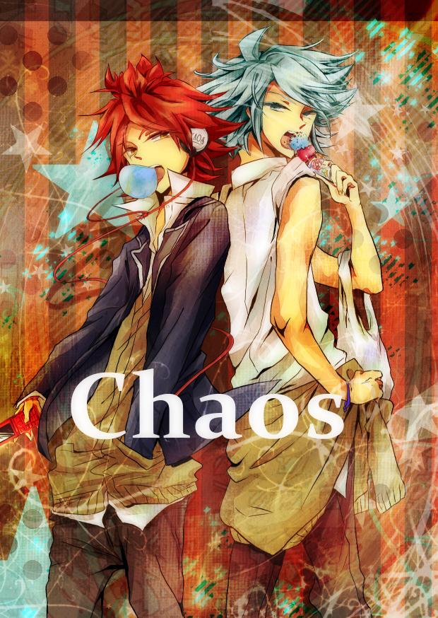 Tags: Anime, Pixiv Id 1674648, Level-5, Inazuma Eleven, Suzuno Fuusuke, Nagumo Haruya, Text: Group Name, Chaos (Inazuma Eleven)