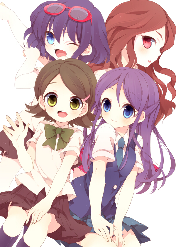 Tags: Anime, Level-5, Inazuma Eleven, Otonashi Haruna, Kino Aki, Raimon Natsumi, Kudou Fuyuka, Mobile Wallpaper