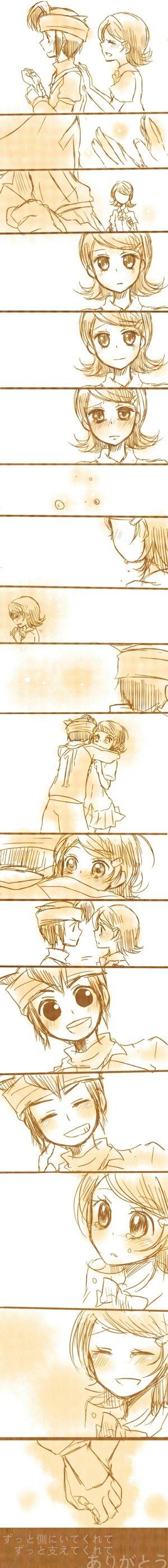 Tags: Anime, Pixiv Id 1894517, Level-5, Inazuma Eleven, Kino Aki, Endou Mamoru, Comic