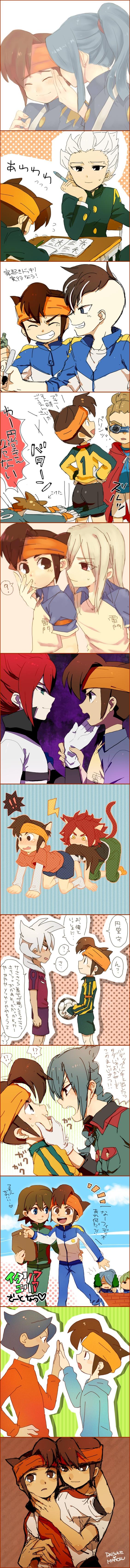Tags: Anime, Pixiv Id 2511059, Inazuma Eleven, Gouenji Shuuya, Kazemaru Ichirouta, Fudou Akio, Midorikawa Ryuuji, Badarp Slead, Endou Mamoru, Tachimukai Yuuki, Kiyama Hiroto, Mistorene Callus, Nagumo Haruya